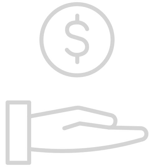 Icon of Hand Holding Money for Finance Link
